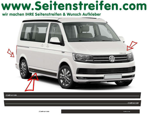 VW T4 T5 T6 California Edition Look set completo de pegatinas laterales  N°: 6687