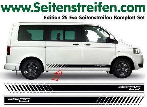 VW T4 T5 T6  Edition 25 EVO set completo de pegatinas laterales  N°: 3131