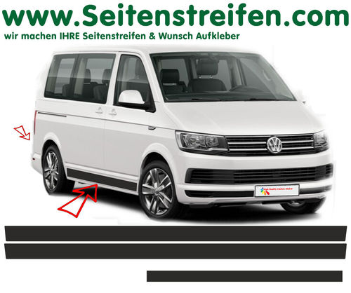 VW T4 T5 T6  -Edition set completo de pegatinas laterales  N°: 5419