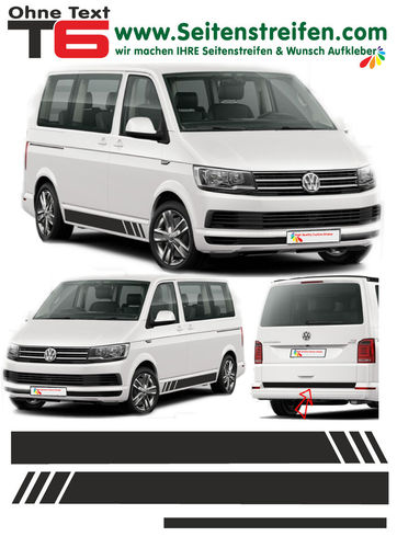 VW T4 T5 T6  - Edition sin Texto 2016 - set completo de pegatinas laterales  N°: 5369