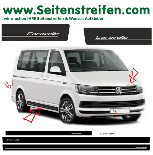 VW T4 T5 T6 Caravelle Edition  - set completo de pegatinas laterales  N°: 5422