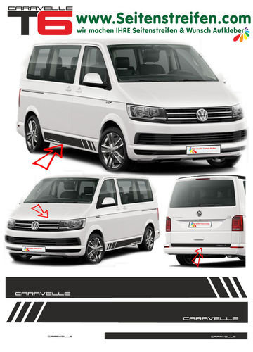 VW T4 T5 T6 Edition CARAVELLE  - set completo de pegatinas laterales  N°: 5473