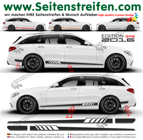 Mercedes Benz clase C AMG C63 S205 Edition 1- set completo de pegatinas laterales  N°: 9840