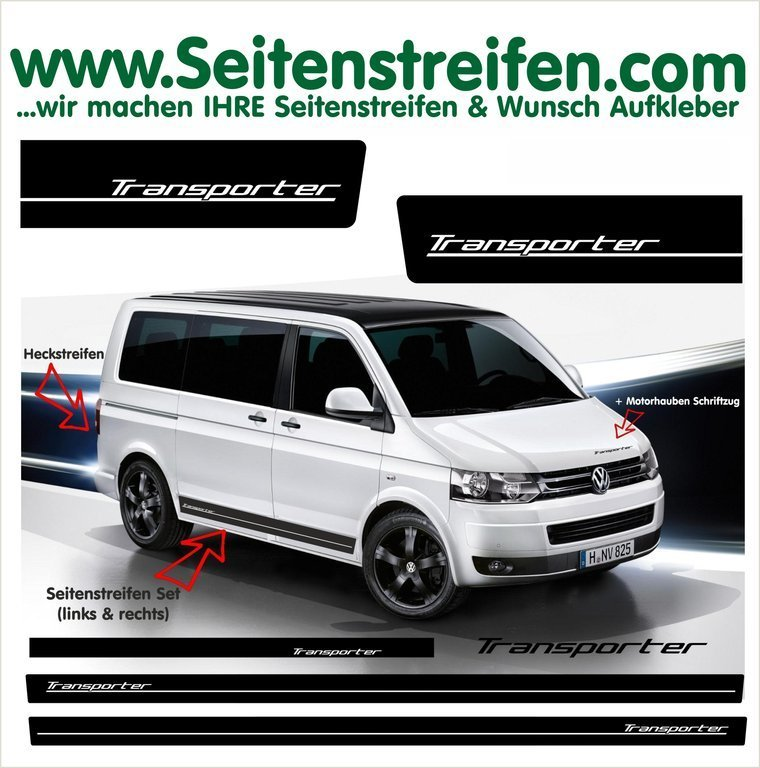 VW T4 T5 T6 Transporter - set completo de pegatinas laterales N° 6011