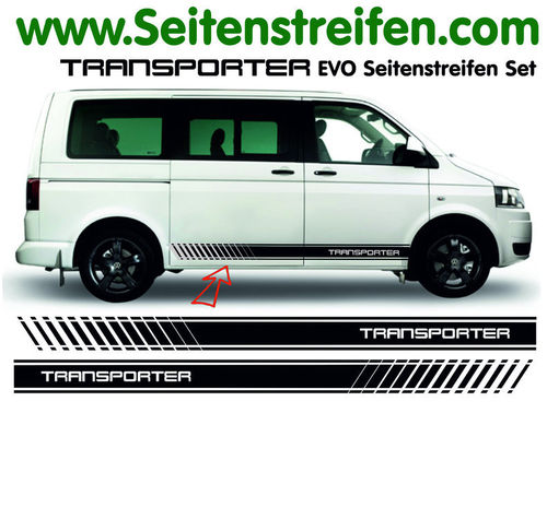 VW T4 T5 T6 Transporter EVO- set completo de pegatinas laterales N°  5116