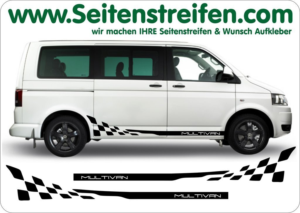 VW T4 T5 T6 Multivan Checker - set completo de pegatinas laterales  N°:  2016