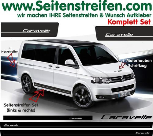 VW T4 T5 T6 CARAVELLE Edition Look - set completo de pegatinas laterales  N°: 5172