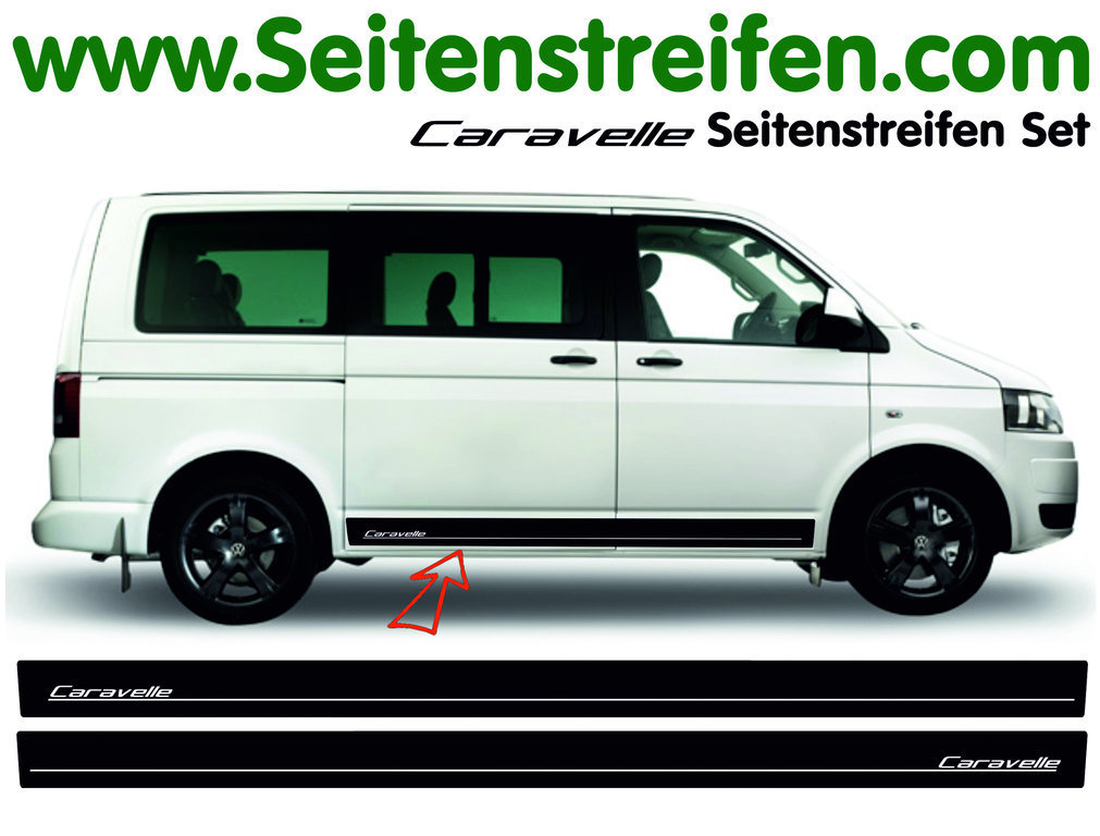 VW T4 T5 T6 CARAVELLE EDITION Look - set completo de pegatinas laterales  N°: 5123