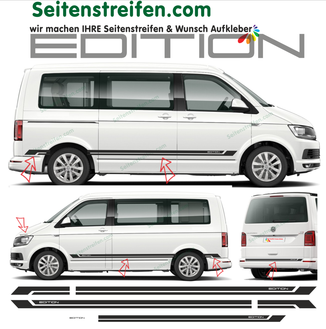 VW T4 T5 T6 Edition 2018 - set completo de pegatinas laterales  N°: 9566