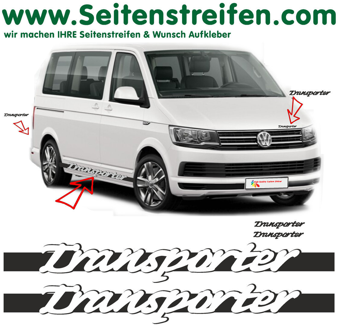 VW T4 T5 T6 Transporter Carrera Look - set completo de pegatinas laterales  N°:5421