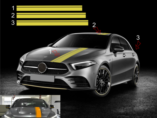 Mercedes Benz A-Class W176 W177 AMG Edition 1- set completo de pegatinas laterales  N°: 1169