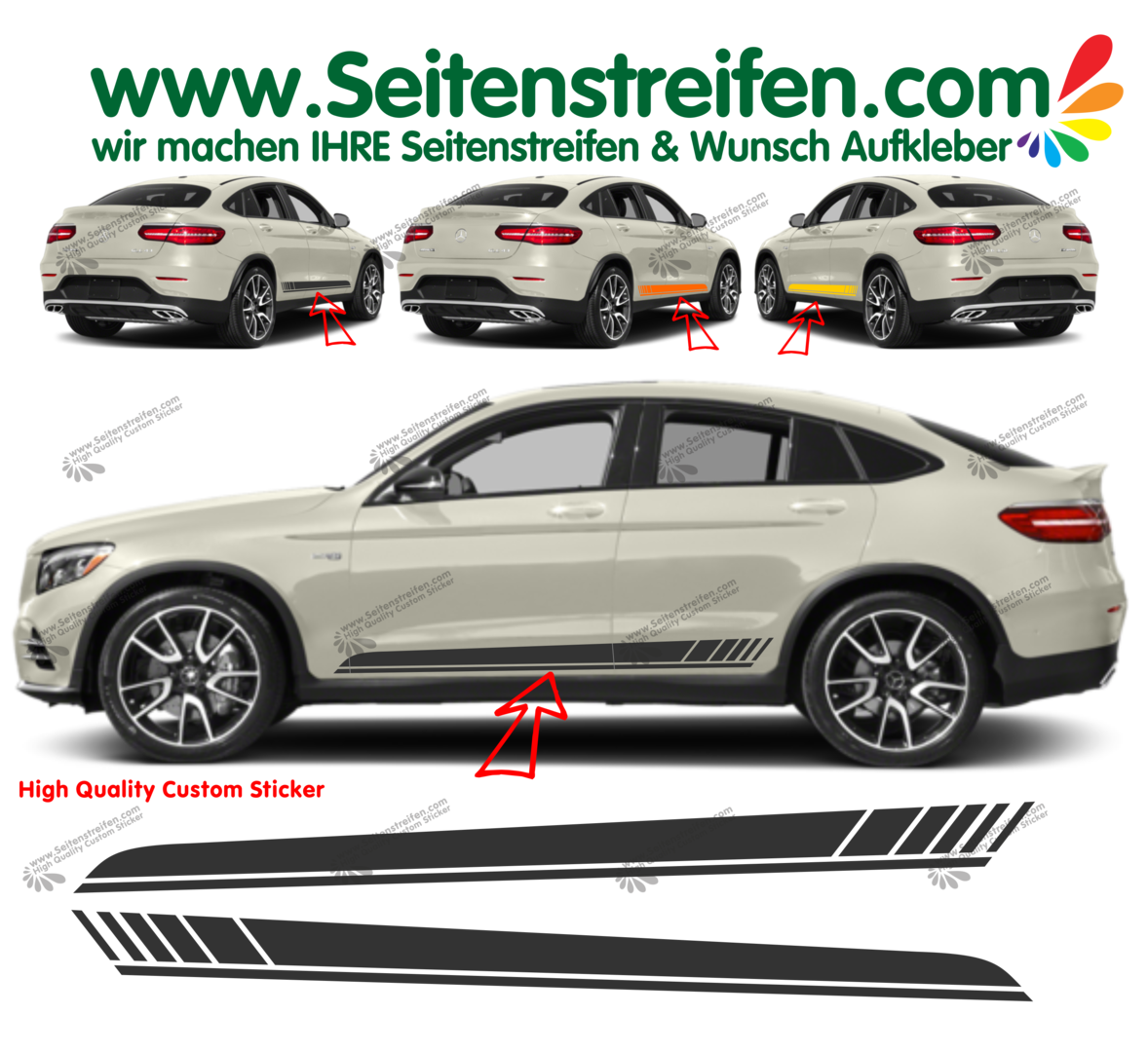 Mercedes Benz GLC Coupe C253 Edition 1 - set completo de pegatinas laterales  N°: 6900