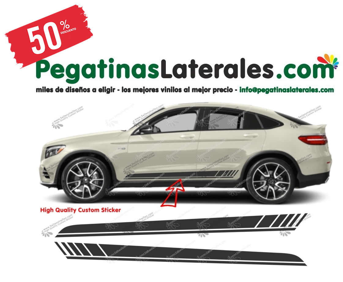 Mercedes Benz GLC Coupe y SUV Edition 1 - set completo de pegatinas laterales  N°: 6901