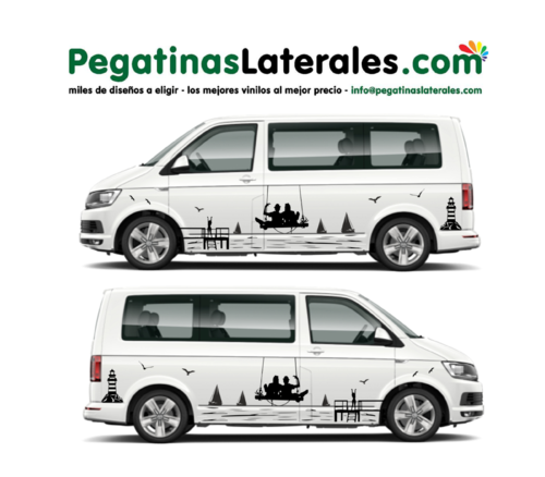 VW T4 T5 T6 - Mare Faro Relax Edition Set pegatinas laterales N°: U1932
