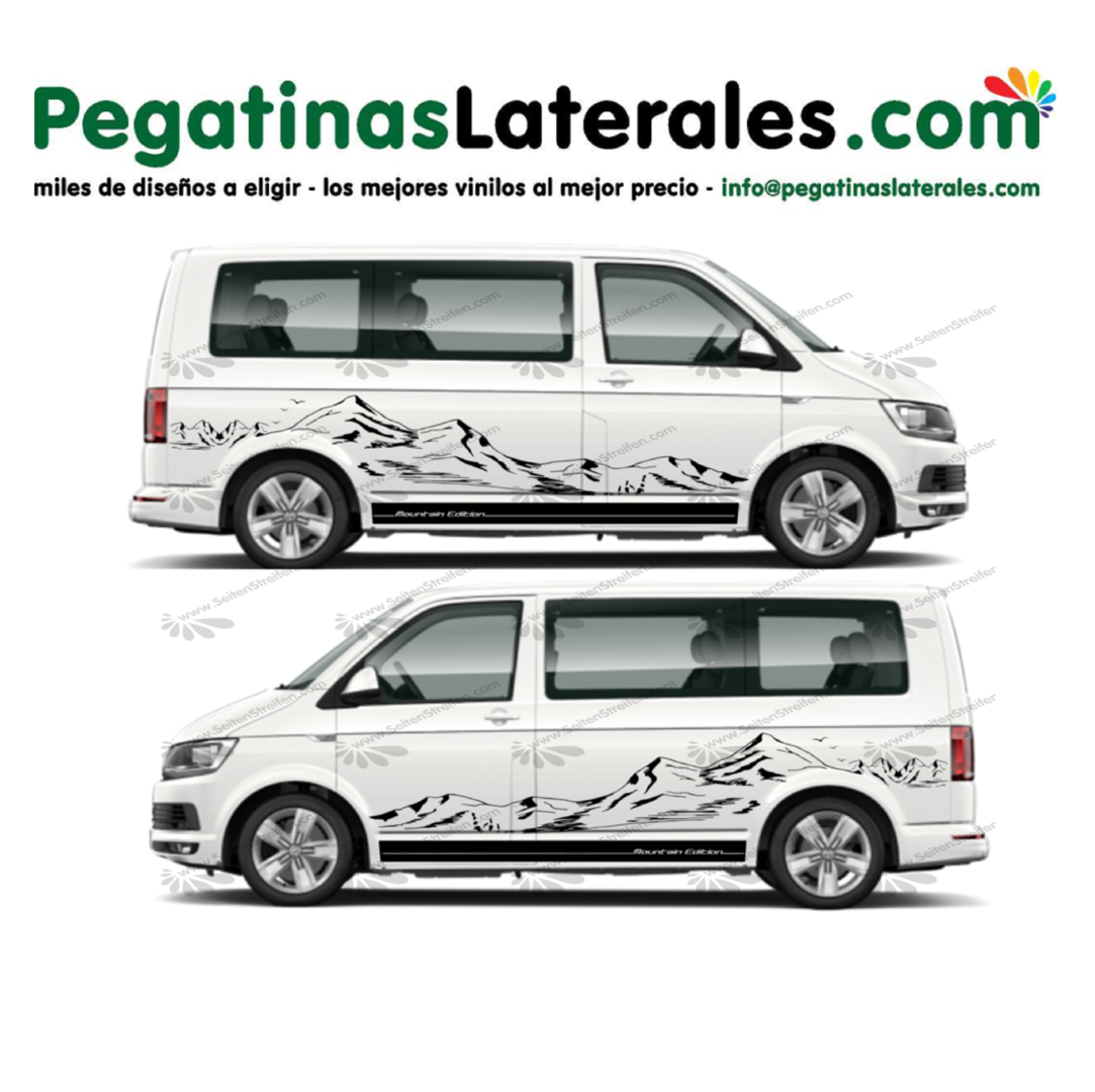VW T4 T5 T6 - Montaña XXL Fine Mountains - Set pegatinas laterales N°: U1920