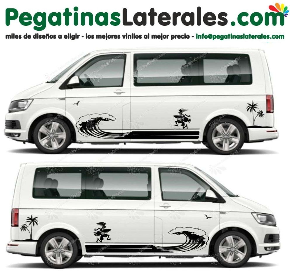 VW T4 T5 T6 - Tablista Edición - set de pegatinas laterales N°:U 5018