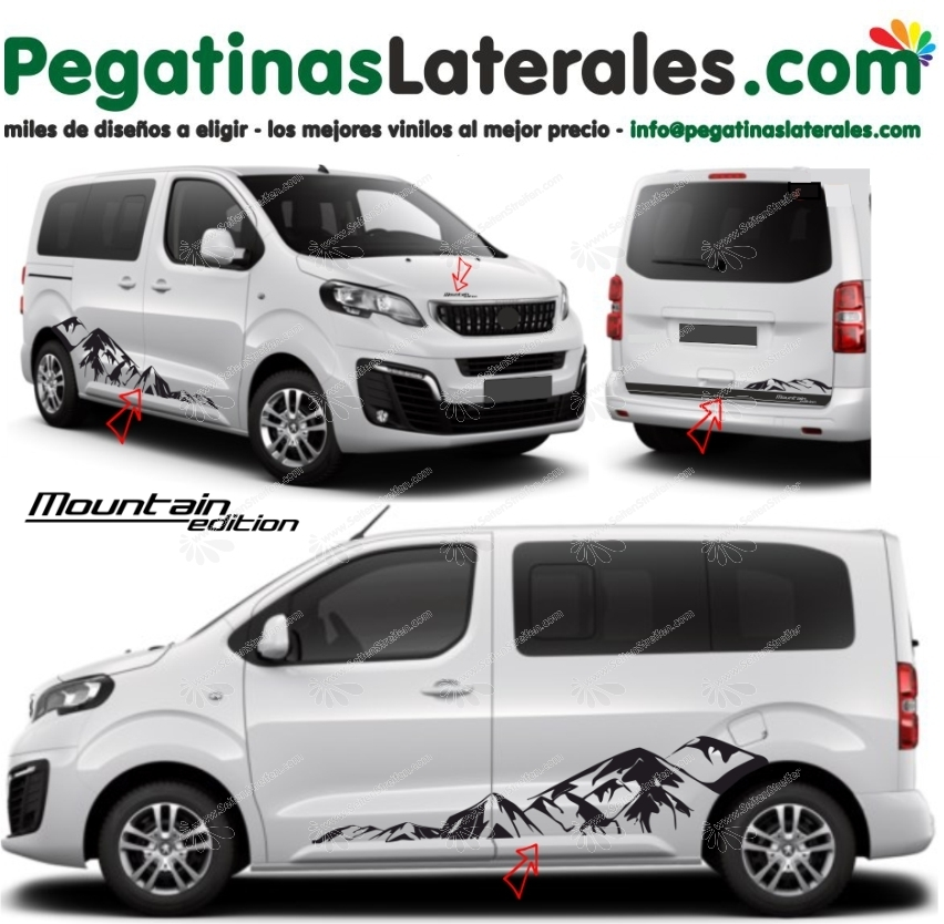 Peugeot Traveller & Expert - Mountain Edition  - set completo de pegatinas laterales N°:9002