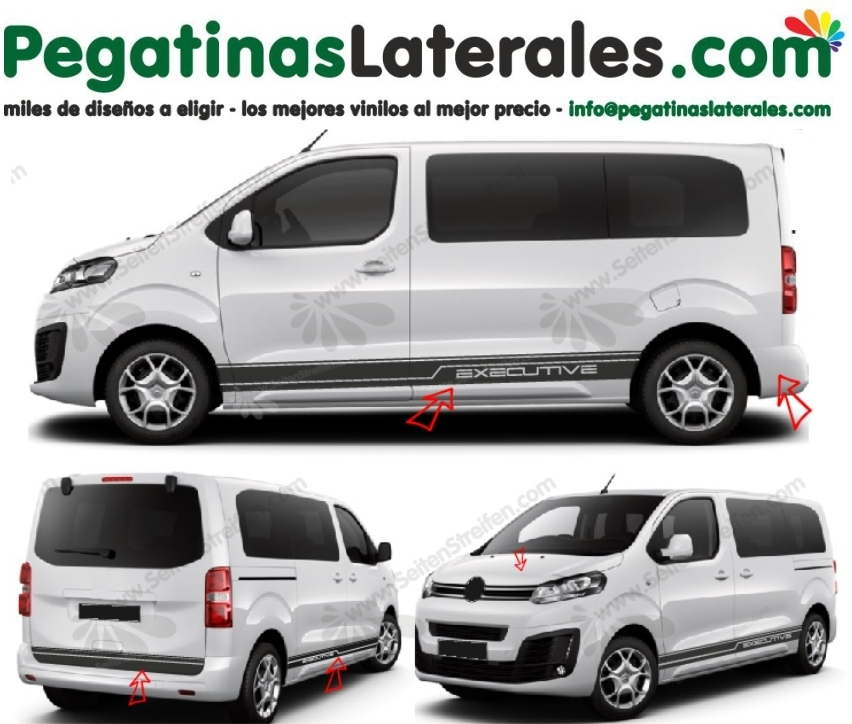 Peugeot Traveller & Expert - EXECUTIVE edición - set de pegatinas laterales N°:3877